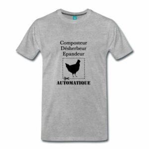 Composteur, Désherbeur, Epandeur automatique : la poule !
